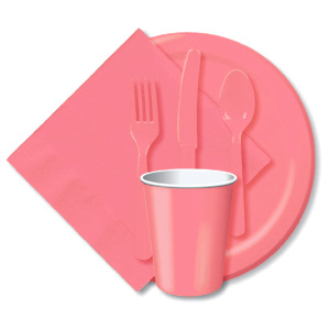 BULK CANDY PINK TABLEWARE