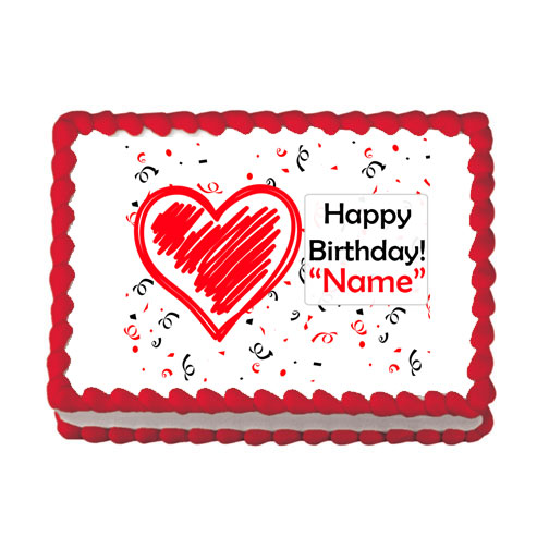 CUSTOM BIRTHDAY LOVE EDIBLE IMAGE PARTY SUPPLIES