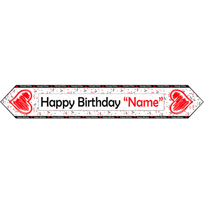 CUSTOM BIRTHDAY LOVE TABLE BANNER PARTY SUPPLIES
