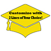 CUSTOM YELLOW GRAD 16-INCH DECORATION PARTY SUPPLIES
