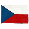 DISCONTINUED CZECH HANDHELD FLAG 4X6 IN PARTY SUPPLIES
