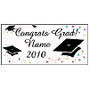 PERSONALIZED CONGRATS GRAD II BANNER PARTY SUPPLIES