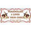 PERSONALIZED COWBOY BANNER PARTY SUPPLIES