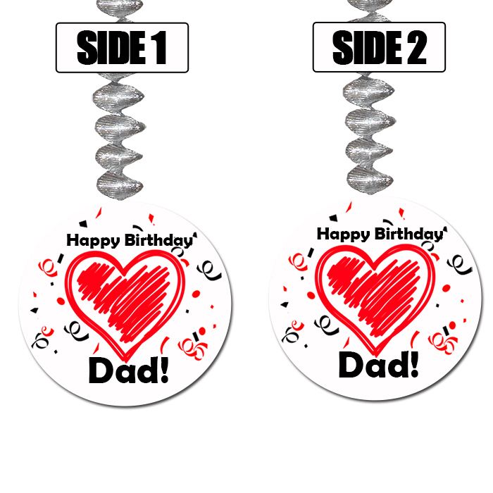 DAD BIRTHDAY LOVE DANGLER PARTY SUPPLIES