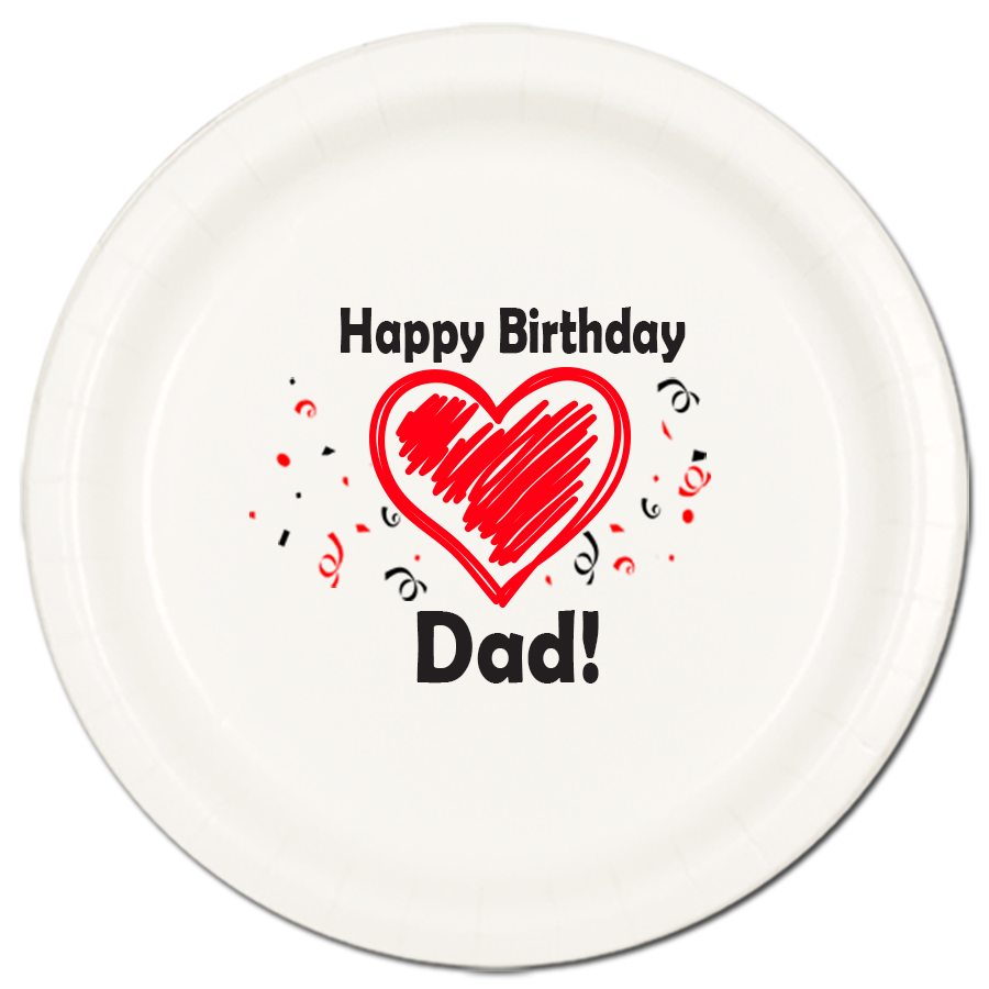 DAD BIRTHDAY LOVE DINNER PLATES PARTY SUPPLIES
