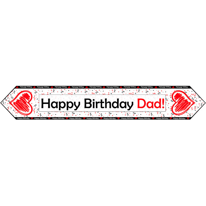 DAD BIRTHDAY LOVE TABLE BANNER PARTY SUPPLIES