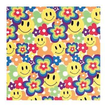Click for larger picture of DISCONTINUED SMILEY BRIGHT ROLL WRAP PARTY SUPPLIES