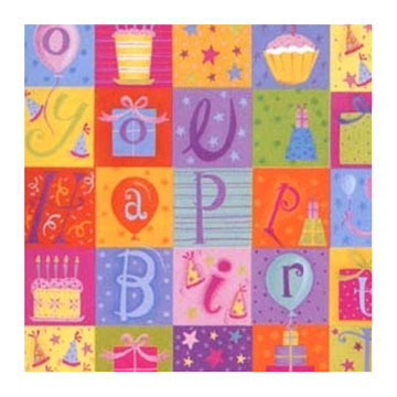 Click for larger picture of LOUELLA'S BIRTHDAY ROLL WRAP PARTY SUPPLIES