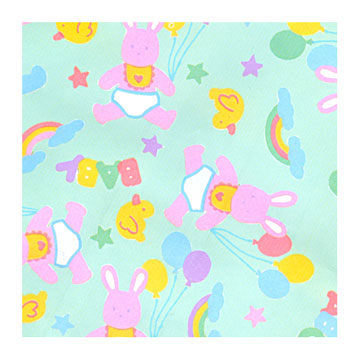 Click for larger picture of BUNNIES, DUCKIES, BALLOONS ROLL WRAP PARTY SUPPLIES