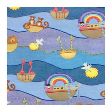 Click for larger picture of NOAH'S BABY ARK ROLL WRAP PARTY SUPPLIES