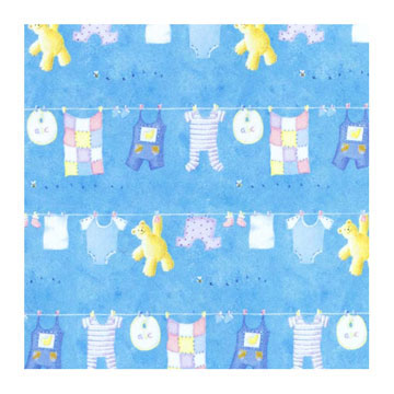 Click for larger picture of CLOTHESLINE BEAR ROLL WRAP PARTY SUPPLIES