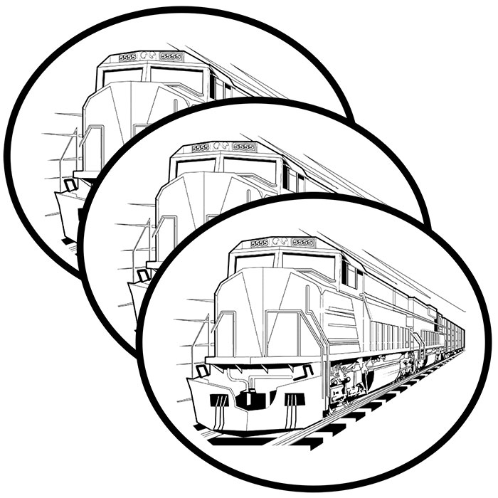 Click for larger picture of DIESEL TRAIN STICKER PARTY SUPPLIES
