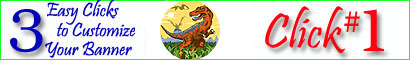 Click Here for Personalized Dinosaur Banners