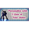 PERSONALIZED DISCO BOOGIE BANNER PARTY SUPPLIES