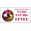 PERSONALIZED DISCO BANNER PARTY SUPPLIES