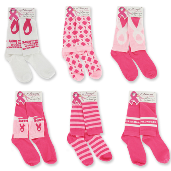 BREAST CANCER KNEE HIGH SOCKS PARTY SUPPLIES