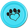 DOG LOVE BLUE DINNER PLATE(8/PKG) PARTY SUPPLIES