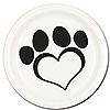 DOG LOVE DESSERT PLATE(8/PKG) PARTY SUPPLIES