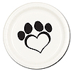 DOG LOVE DINNER PLATE(8/PKG) PARTY SUPPLIES