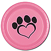 DOG LOVE PINK DINNER PLATE(8/PKG) PARTY SUPPLIES