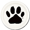 DOG PAW DESSERT PLATE(8/PKG) PARTY SUPPLIES