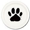 DOG PAW DINNER PLATE(8/PKG) PARTY SUPPLIES