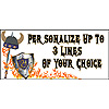 PERSONALIZED DRAGON BANNER PARTY SUPPLIES