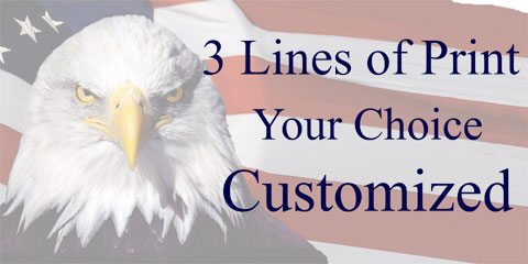 Click for larger picture of PERSONALIZED EAGLE BANNER 18X46IN. PARTY SUPPLIES