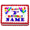 2ND BIRTHDAY BALLOON EDIBLE ICING ART PARTY SUPPLIES
