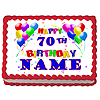 70TH BIRTHDAY BALLOON EDIBLE ICING ART PARTY SUPPLIES