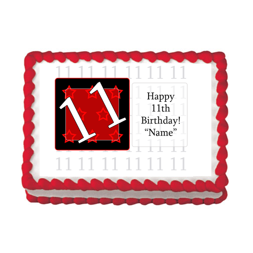 11TH BIRTHDAY RED EDIBLE IMAGE PARTY SUPPLIES
