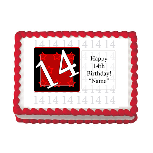 14TH BIRTHDAY RED EDIBLE IMAGE PARTY SUPPLIES