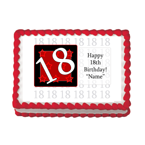 18TH BIRTHDAY RED EDIBLE IMAGE PARTY SUPPLIES