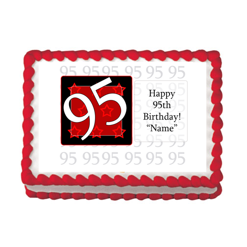 95TH BIRTHDAY RED EDIBLE IMAGE PARTY SUPPLIES