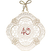 40TH ANNIVERSARY WALL PLATE KEEPSAKE PARTY SUPPLIES