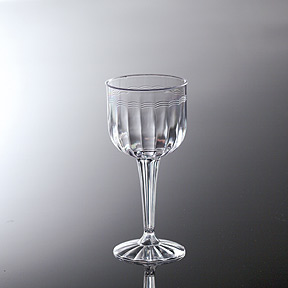 Click for larger picture of FLUTED 8OZ WINE GOBLET (1 PIECE) PARTY SUPPLIES