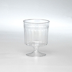 Click for larger picture of 5.5OZ WINE GLASS (1 PIECE) PARTY SUPPLIES