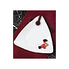 TRIANGLES COCKTAIL PLATE WHITE PARTY SUPPLIES