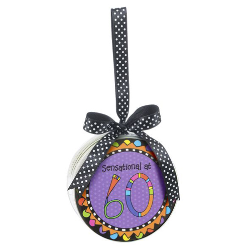 Click For Larger Picture Of 60TH SENSATIONAL CELEBRATE COASTER 12CT PARTY SUPPLIES