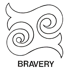 DISCONTINUED BRAVERY SYMBOL LARGE STAMP PARTY SUPPLIES