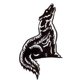 Click for larger picture of DISCONTINUED FABRIC COYOTE RUBBER STAMP PARTY SUPPLIES