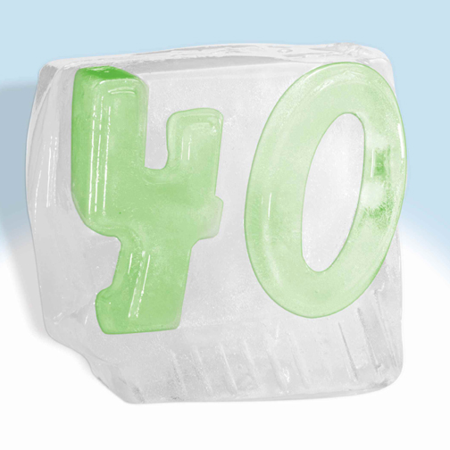 Click For Larger Picture Of FREAKIN FORTY ICE DRINK LUGE DECORATION PARTY SUPPLIES