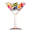 40TH BIRTHDAY PLASTIC MARTINI GLASS FAVO PARTY SUPPLIES
