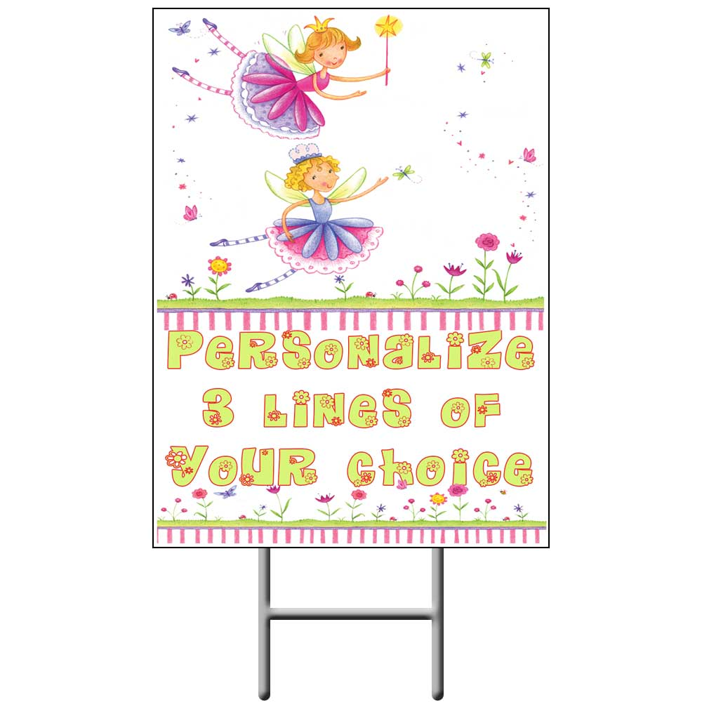 Click for larger picture of FAIRIES YARD SIGN PARTY SUPPLIES
