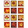 FALL LEAF COASTERS PARTY SUPPLIES