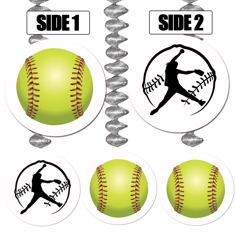 FASTPITCH SOFTBALL DANGLER DECORATION PARTY SUPPLIES