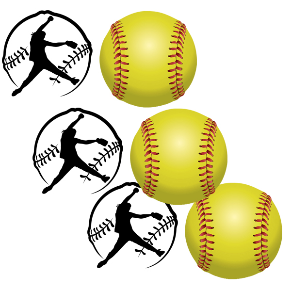 FASTPITCH SOFTBALL DECO FETTI PARTY SUPPLIES