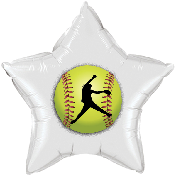 FASTPITCH SOFTBALL MYLAR BALLOON PARTY SUPPLIES