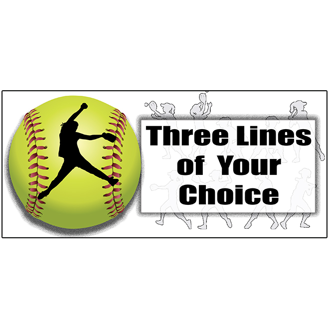 FASTPITCH SOFTBALL PERSONALIZED BANNER PARTY SUPPLIES