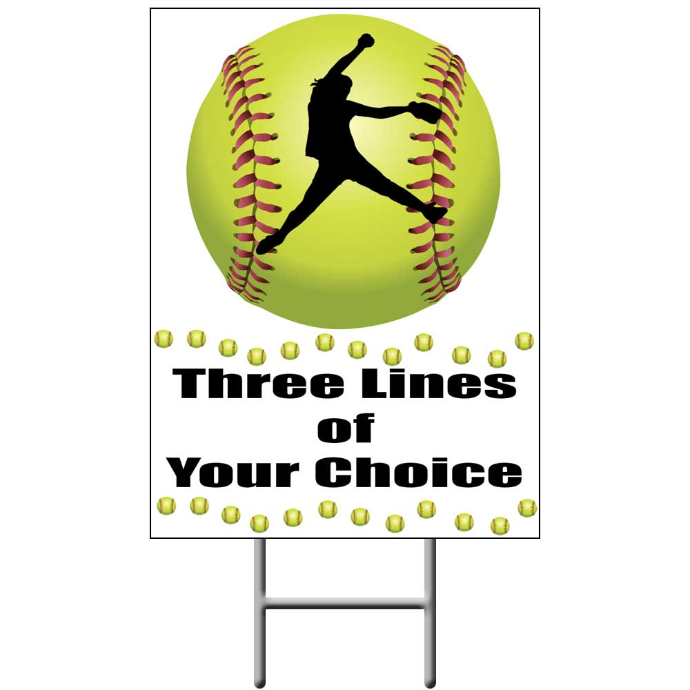 FASTPITCH SOFTBALL PERSONALIZED YARDSIGN PARTY SUPPLIES